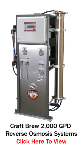 Craft Brew Water 2000 Pro Reverse Osmosis System