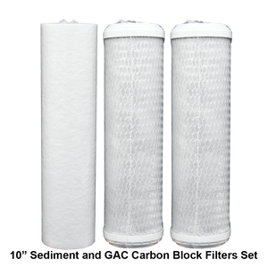 "2.5"" x 10"" Filter Set with Gradulant Sediment Filter and 2 Carbon Block Filters"