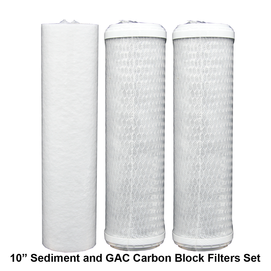 "10 "" Sediment and GAC Carbon Filters"