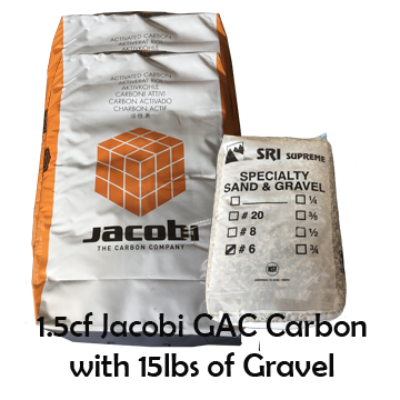 1.5CF of Jacobi GAC Carbon with 15lbs of Gravel