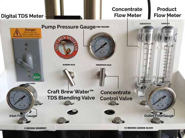Craft Brew 1800 Gpd Reverse Osmosis System With Tds Meter