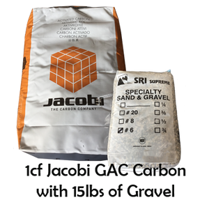 1CF of Jacobi GAC Carbon with 15lbs of Gravel