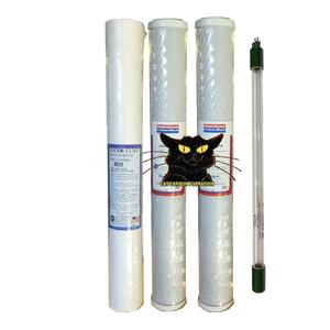 "2.5"" x 20"" 3 Pack CAT Filter Set with 2.0 GPM Viqua UV"