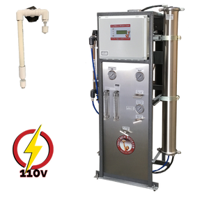 Craft Brew 2000 GPD Pro Reverse Osmosis System 110V Float Switch Controlled with UV, TDS Meter and Blending Valve