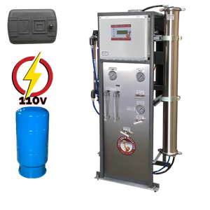 Craft Brew 2000 GPD Pro Reverse Osmosis System 110V Pressure Switch Controlled with UV, TDS Meter, Blending Valve