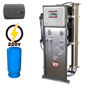 Craft Brew 2000 GPD Reverse Osmosis System 220v Pressure Switch Controlled with UV, TDS Meter and Blending Valve