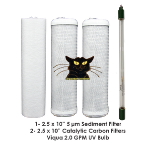 "2.5 x 10"" CAT Filter Set with 2.0 GPM Viqua UV Bulb"
