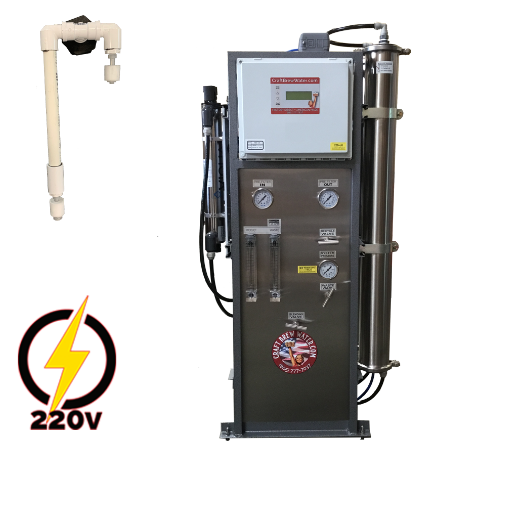 Craft Brew 4000 GPD Pro 220v, Float Switch Controlled Reverse Osmosis System