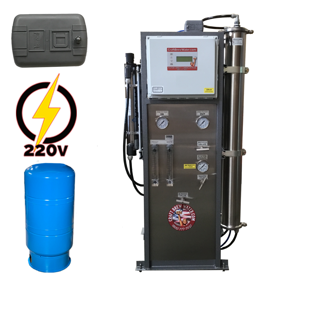 Craft Brew 4000 GPD  220v, Pressure Switch Controlled Reverse Osmosis System