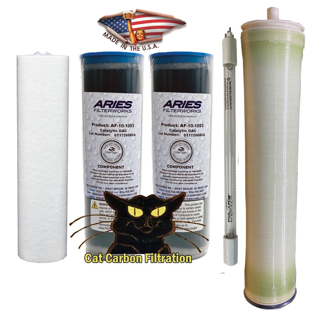 "2.5 x 10 CAT Filter Set With 2.0 GPM UV Bulb and 4"" x 21"" Membrane"