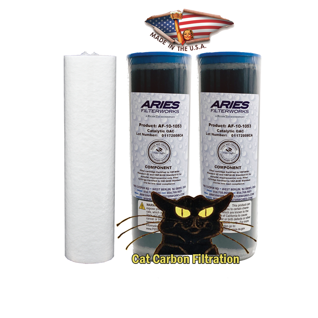 "2.5 x 10"" Cat Carbon Filter Set"