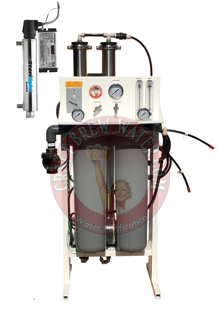 Craft Brew 1800 gpd Reverse Osmosis System with TDS Meter, UV and Blending Valve.
