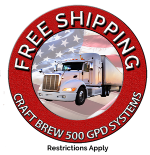 Free shipping on 500 GPD reverse osmosis brewing systems