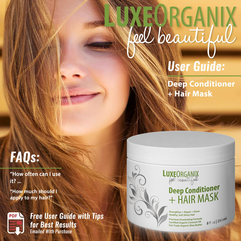 Certified Organic Coconut Oil Deep Conditioner Hair Mask