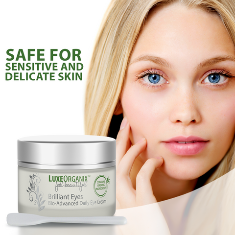 Brilliant Eyes Bio-Advanced Daily Eye Cream: Moisturizing Under Eye Treatment Relieves Dark Circles and Puffiness. Natural Plant-Based Retinol and Moisturizers Firm Eyelids, Smooth Wrinkles, and Minimize Eye Bags.