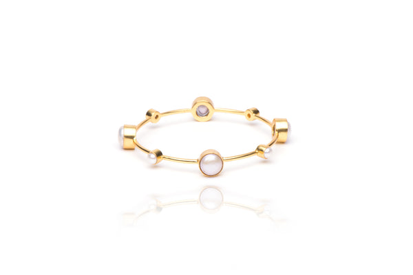 Seashore Bangle with Pearl