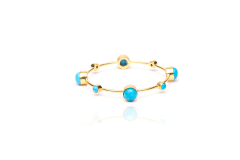 Seashore Bangle with Turquoise