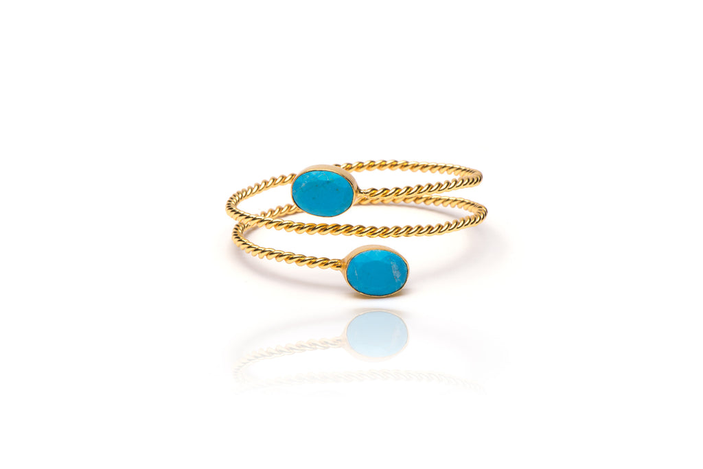 Serpentine Bracelet in Turquoise