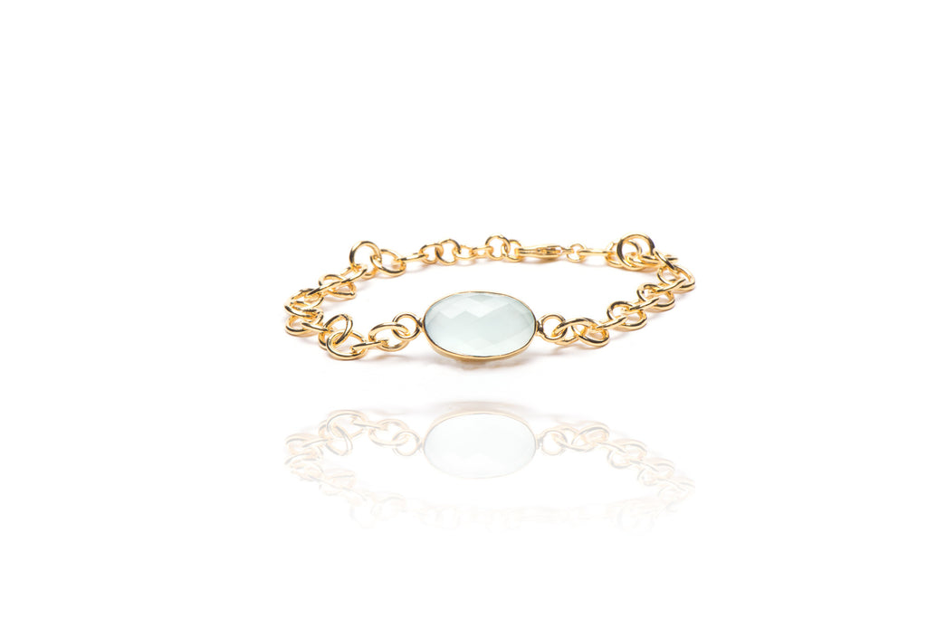 Currents Bracelet in Aqua Chalcedony