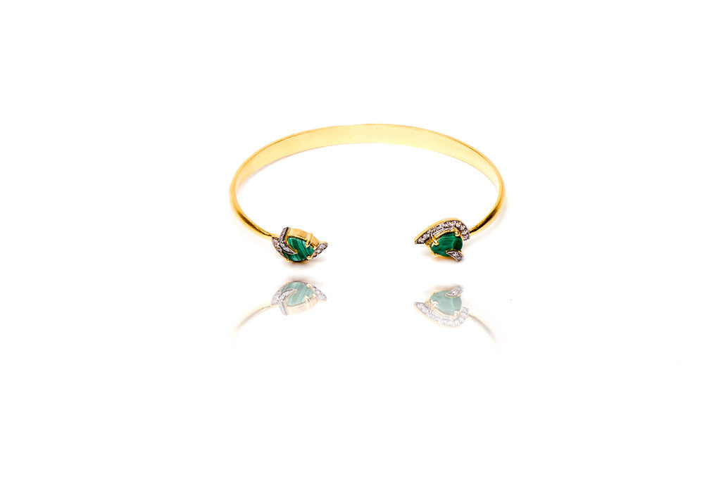 Jaunt Bangle in Green