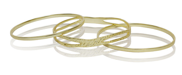 Circlet Bangle Set in Gold