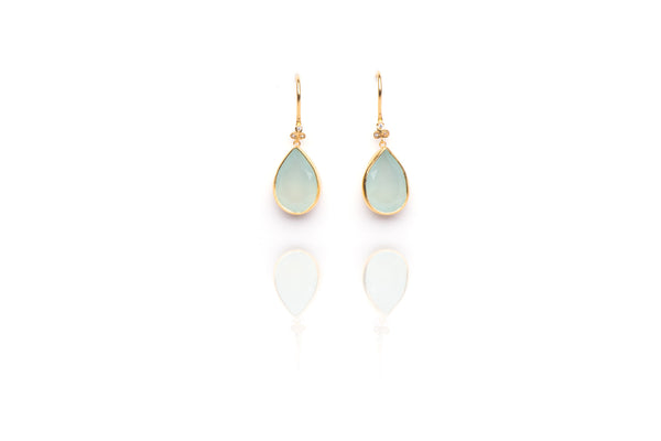 Oceania Earrings in Chalcedony