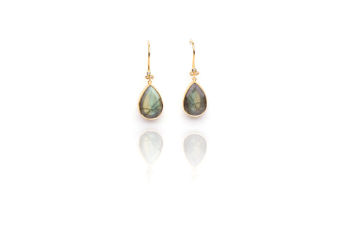 Oceania Earrings in Labradorite