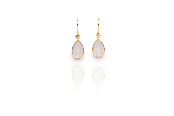 Oceania Earrings in Moonstone