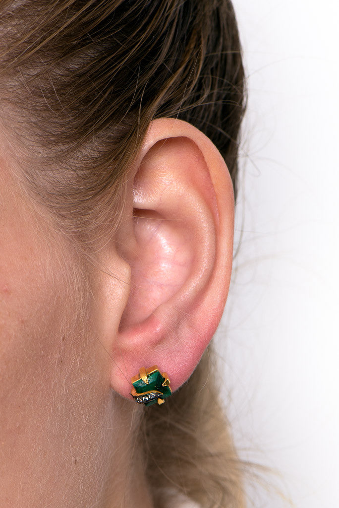 Gypsy Studs in Green