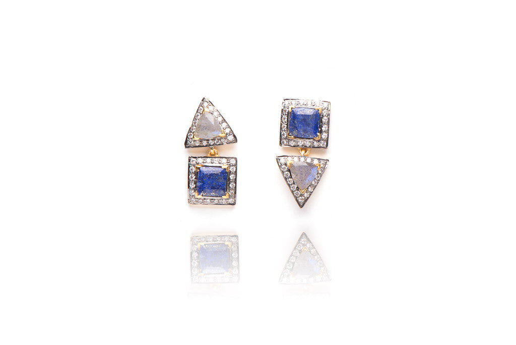 Free Spirit Earrings in Blue