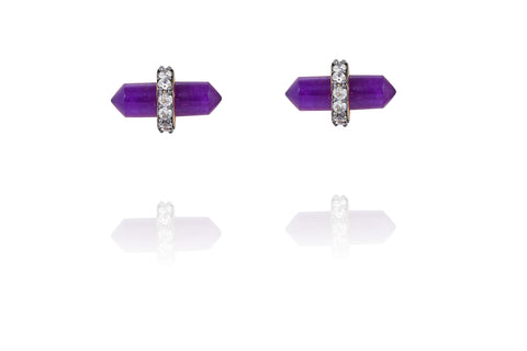 Lofty Earrings in Purple