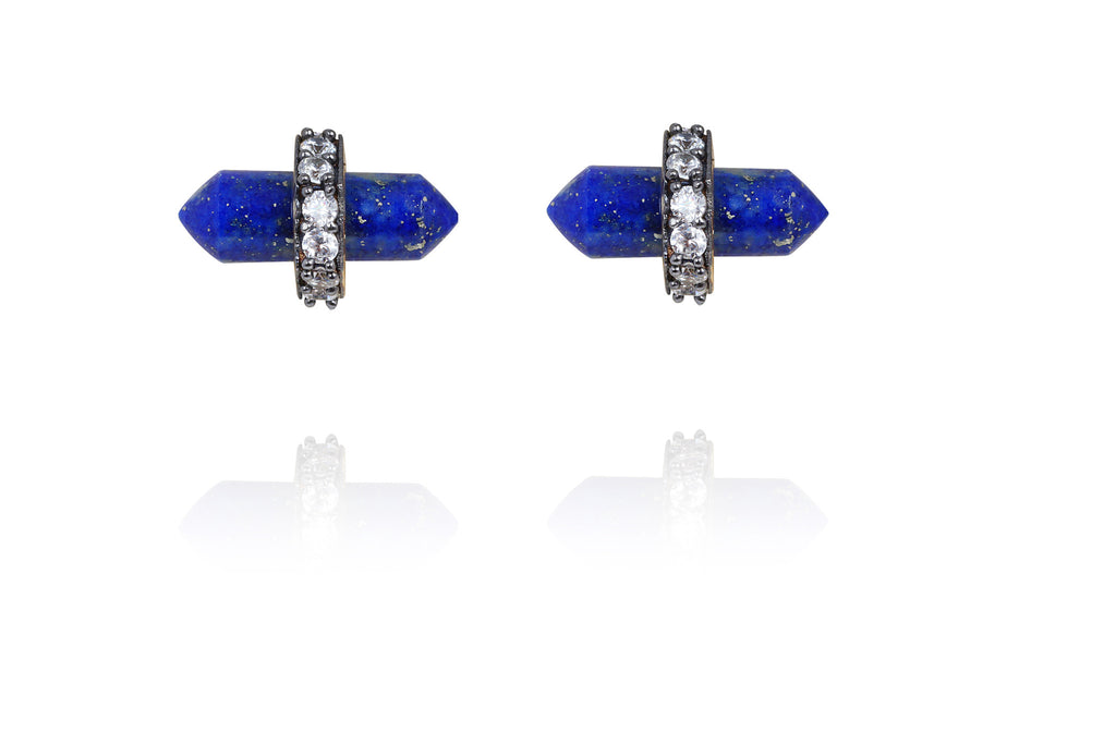 Lofty Earrings in Blue