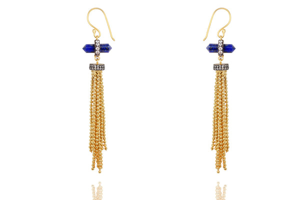 Cascading Blue Earrings