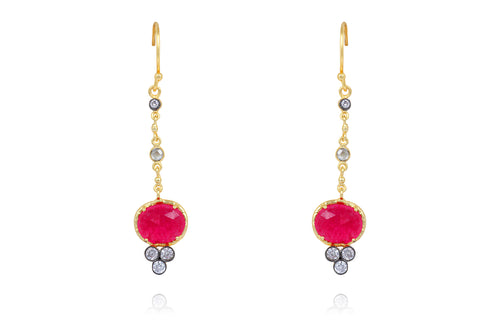 Zeenia Earrings in Red