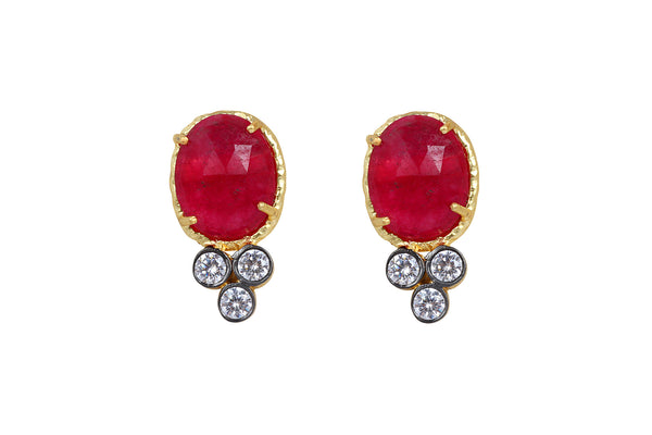 Bella Earrings in Red