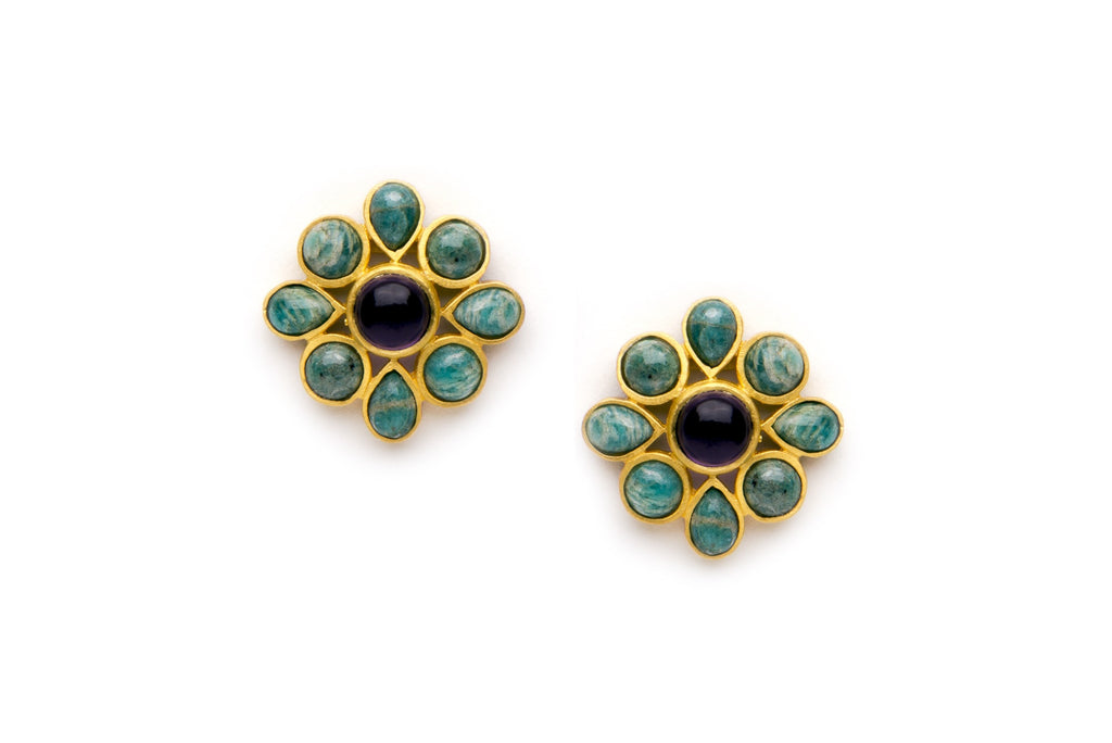 Bloom Earrings in Green