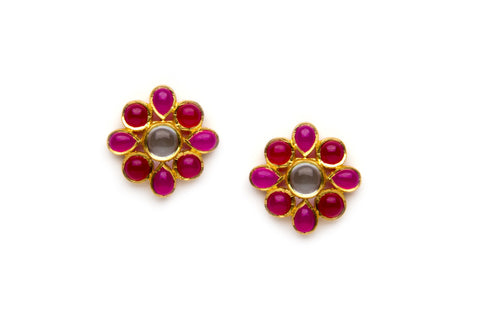 Bloom Earrings in Pink