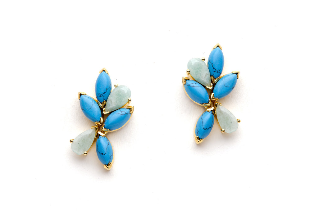 Gala Earrings in Blue