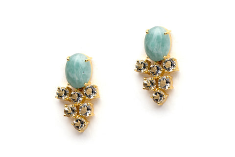 Revelry Earrings in Green