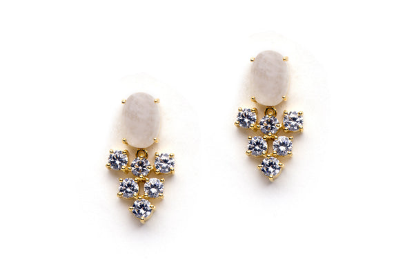 Revelry Earrings in White