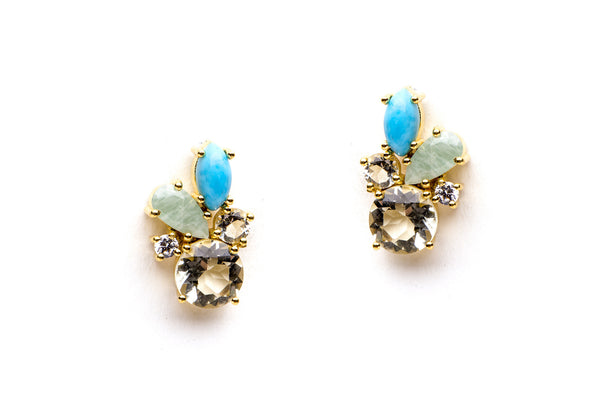 Carnival Earrings in Blue