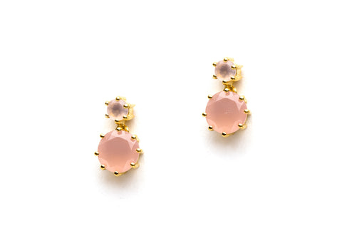 Annora Earrings in Pink