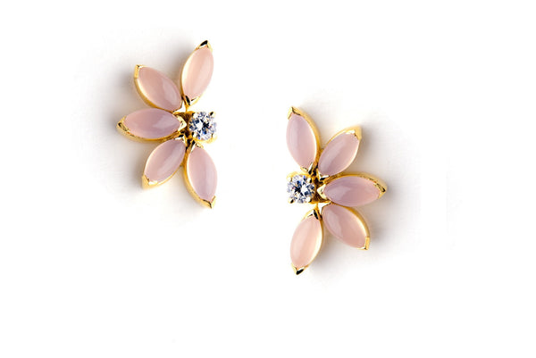 Petal Earrings in Pink