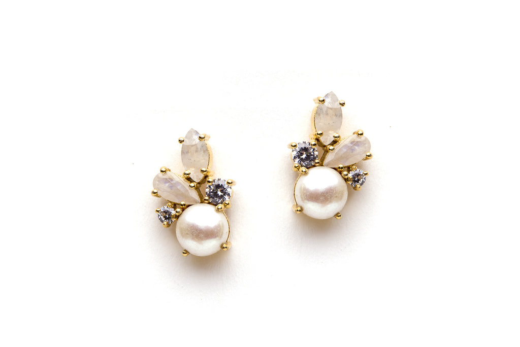 Carnival Earrings in White