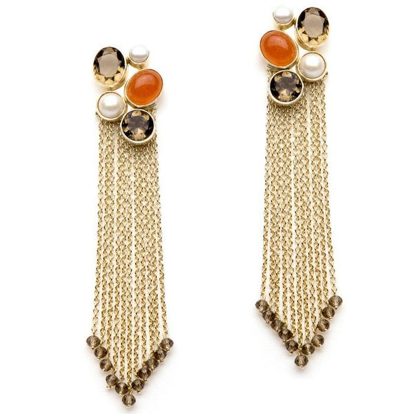 Marigold Tassel earrings