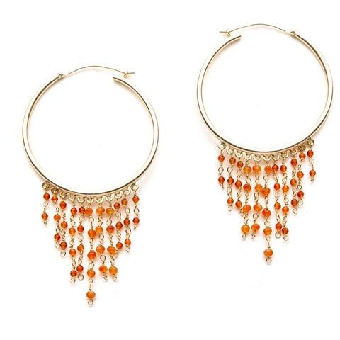 Gypsy Hoops in Orange