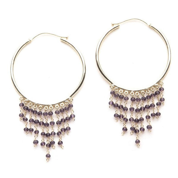 Gypsy Hoops in Purple
