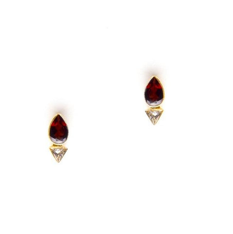Lava earrings in Red