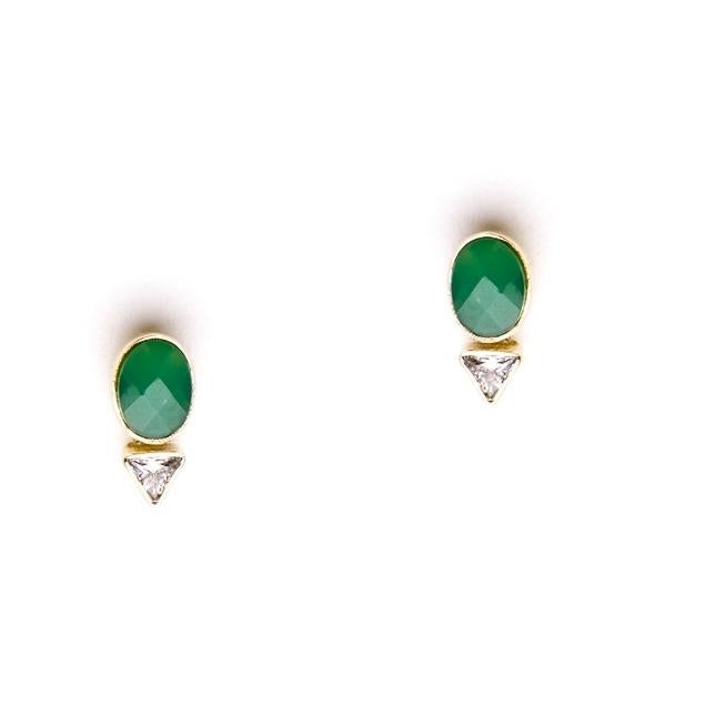 Parker earrings in Green