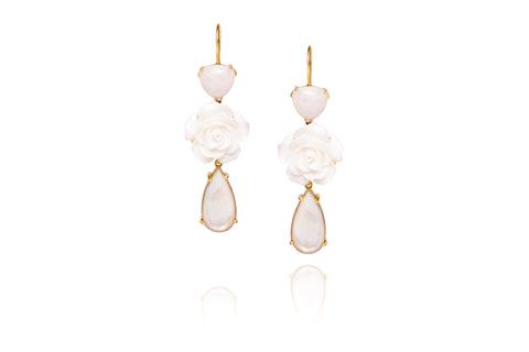 Riverine Earrings in White